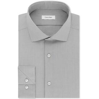 """Calvin Klein Mens Big & Tall Button Up Dress Shirt - 18.5"""" Neck 34""""-35"""" Sleeve"""
