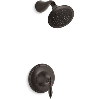 kohler kts3134m finial traditional shower trim package with single function shower head