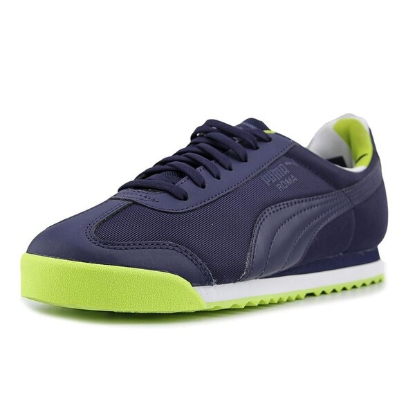 Shop Puma Roma Basic Geometric Camo Jr Youth Synthetic Blue Fashion ... caa37700c
