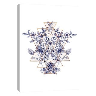 "PTM Images 9-105642  PTM Canvas Collection 10"" x 8"" - ""Prairie Geometry 1"" Giclee Flowers Art Print on Canvas"