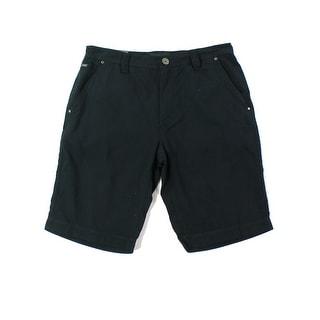INC NEW Deep Black Mens Size 33 Seiden Dobby Zipper-Pockets Shorts