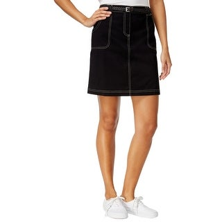 Karen Scott Womens Plus Skort Contrast Stitch Twill - 18
