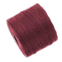 BeadSmith Super-Lon (S-Lon) Cord - Size 18 Twisted Nylon - Dark Red (77 Yard Spool)