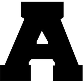 "Iron-On Letters 1.5"" Athletic-Black - Black"
