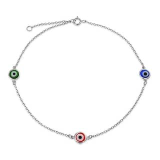 925 Sterling Silver Multi Color Evil Eye Anklet Bracelet 9in|https://ak1.ostkcdn.com/images/products/is/images/direct/c7abdc37d69fe39a26e5b1b0b68e49c85bd9ac39/925-Sterling-Silver-Multi-Color-Evil-Eye-Anklet-Bracelet-9in.jpg?impolicy=medium