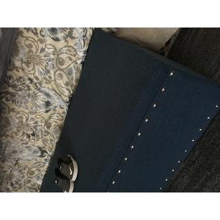 Tatiana Studded Fabric Storage Ottoman Bench by Christopher Knight Home