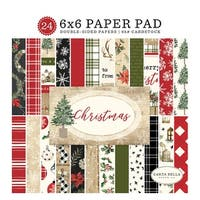 "Carta Bella Double-Sided Paper Pad 6""X6"" 24/Pkg-Christmas, 12 Designs/2 Each"