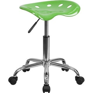 Brittany Spicy Lime Tractor Seat & Chrome Multipurpose Stool