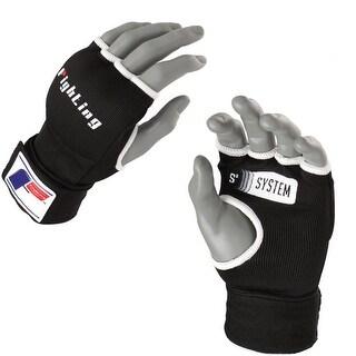 Fighting Sports S2 Hook and Loop Gel Boxing Glove Wraps - Black