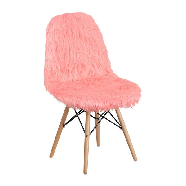 Shop Offex Shaggy Dog Faux Fur Upholstered Accent Chair