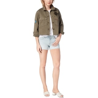 Joe's Womens Military Shirt Jacket, green, Medium