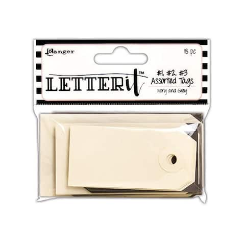Les59356 ranger letter it surface tags assorted