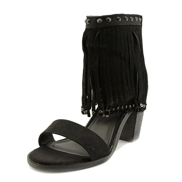 Very Volatile Lux Women Open Toe Suede Black Sandals