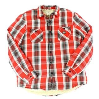 Denim & Supply Ralph Lauren NEW Red Mens Size Large L Plaid Jacket