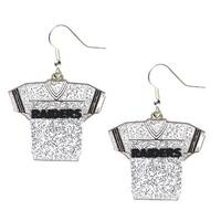 NFL Oakland Raiders Glitter Jerseys Sparkle Dangle logo Earring Set Charm Gift