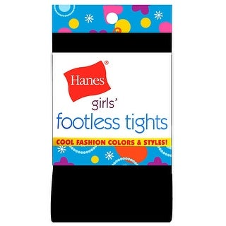 Hanes Girls' Footless Tights - M