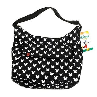 Disney Mickey Mouse Classic Carryall Black And White Diaper Bag