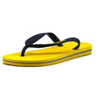 Havaianas Brasil Youth Open Toe Synthetic Yellow Flip Flop Sandal