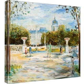 """PTM Images 9-97744  PTM Canvas Collection 12"""" x 12"""" - """"Parisian Afternoon I"""" Giclee Paris Art Print on Canvas"""