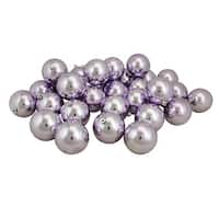 "32ct Shiny Lavender Purple Shatterproof Christmas Ball Ornaments 3.25"" (80mm)"
