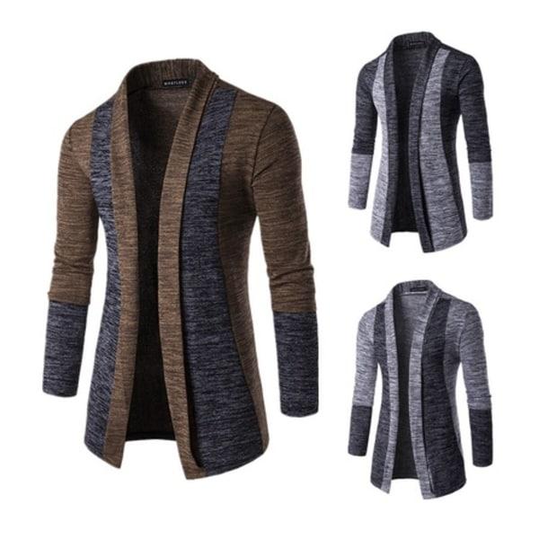 Men 's Fashion Cardigan Sweatshirts Casual Slim Fit Cardigan Hoodies Cotton Stitching Jackets
