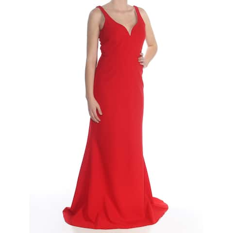 JILL STUART Womens Red Sleeveless Full Length Evening Dress Size 8