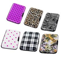 Aluminum Wallet Rfid Blocking Credit Card Case Holder Aluma Wallet (Printed Designs)