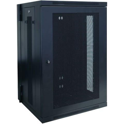 Tripp lite srw18us 18u wall mount rack enclosure server cabinet hinged w/ door & sides