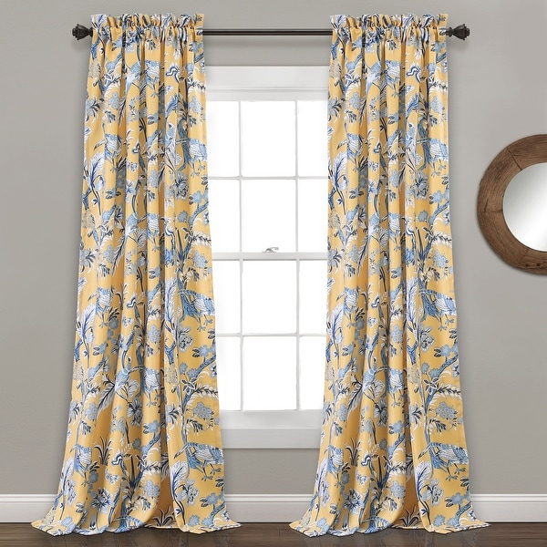 Lush Decor Dolores Room-darkening Floral Curtain Panel Pair. Opens flyout.
