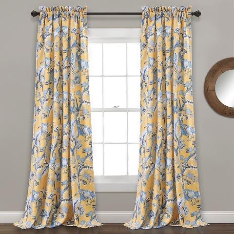 Lush Decor Dolores Room-darkening Floral Curtain Panel Pair