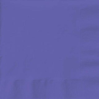 "Purple - Luncheon Napkins 6.5""X6.5"" 50/Pkg"