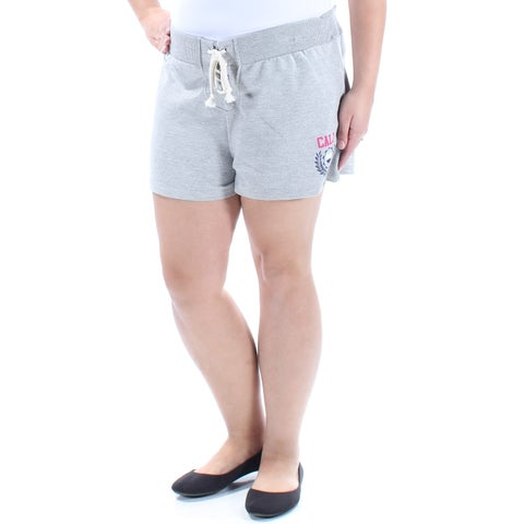 Womens Gray Casual Lounge Short Size XL