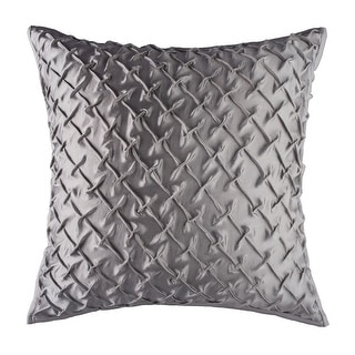 Glam Solid Silver Handmade Textured Decorative Throw Pillow Cover