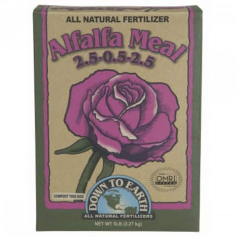 Down To Earth 07805 Alfalfa Meal All Natural Fertilizer, 5 Lbs, 2-5-0-5-2-5