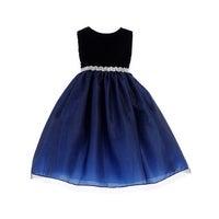 7452515f263 Crayon Kids Girls Royal Blue Bejeweled Waist Junior Bridesmaid Dress