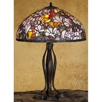 Meyda Tiffany 31146 Stained Glass / Tiffany Table Lamp from the Magnolia Collection - n/a
