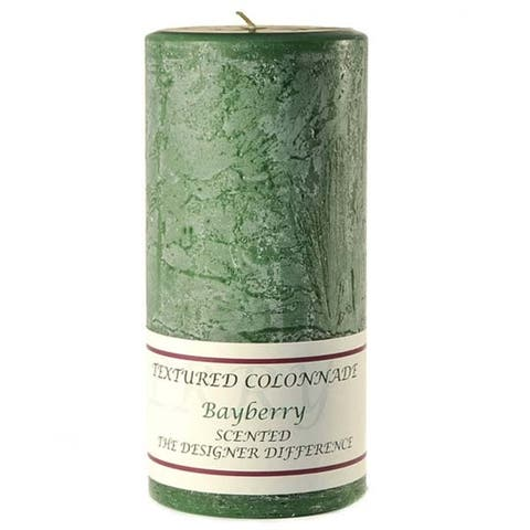 1 Pc Textured 4x9 Bayberry Pillar Candles 4 in. diameterx9.25 in. tall