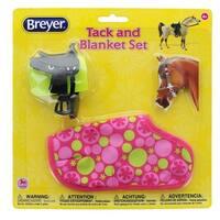 Breyer 1:12 Classic Model Horse Tack and Blanket Set, Pink & Green - multi