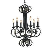 Woodbridge Lighting 12005 Easton 6 Light Charcoal Chandelier - Grey