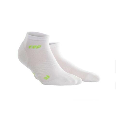 CEP Women's Dynamic Ultralight Low Cut White Size III Sock Bundle of 2 Pairs