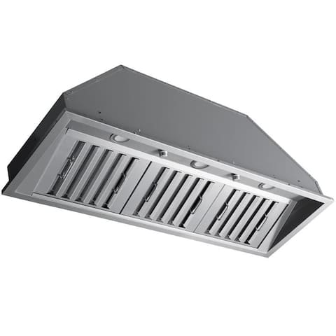 Ancona 46 in. 600 CFM Ducted Insert Range Hood in Stainless Steel