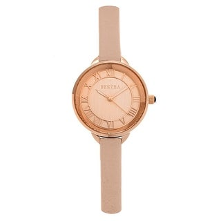 Bertha Madison Women's Quartz Watch, Genuine Leather Band, Luminous Hands