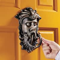 Design Toscano Sutherland House Greenman Authentic Foundry Iron Door Knocker