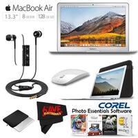 Apple MacBook Air 13-inch: 1.8GHz dual-core Intel Core i5, 128GB # MQD32LL/A + Sennheiser In-Ear Headphones with Remote Bundle
