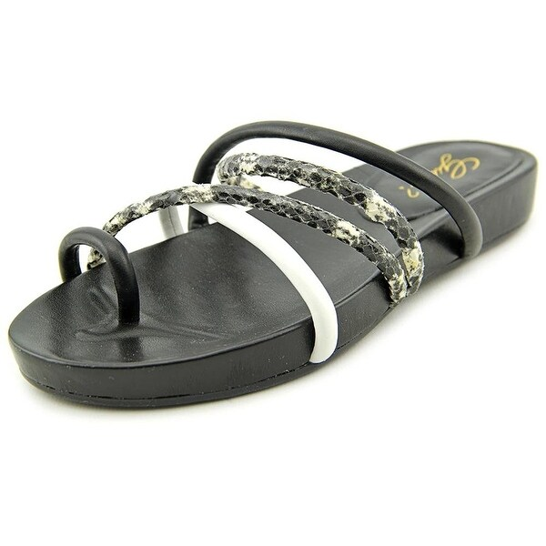 GUESS Womens JIYANA Leather Split Toe Casual Slide Sandals