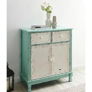 BELLEZE Home Small Spaces Elegant 2-Drawer 2-Door Accent Cabinet