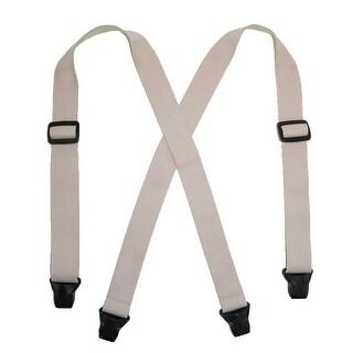 CTM® Women's Elastic Undergarment TSA Compliant Clip End Suspenders
