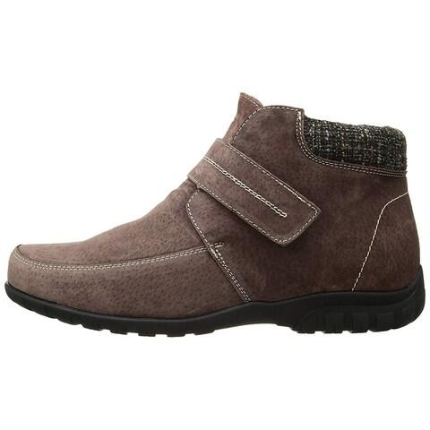 Propét Womens Delaney Strap Leather Square Toe Ankle Fashion Boots