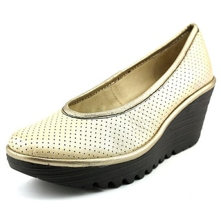 Fly London Yalu Perf Women Open Toe Leather Silver Wedge Heel