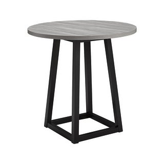 Showdell Contemporary Round Dining Room Counter Table, Gray/Black - 36 in